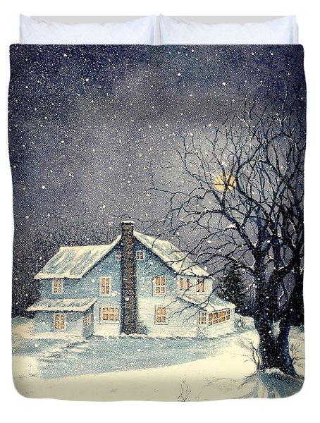 Winter's Silent Night Duvet Cover