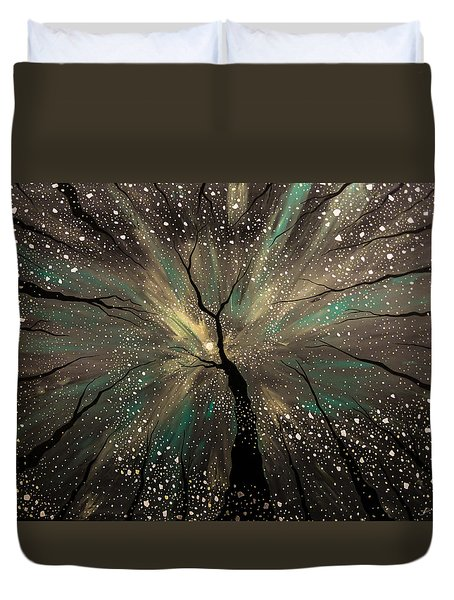 Winter's Trance Duvet Cover