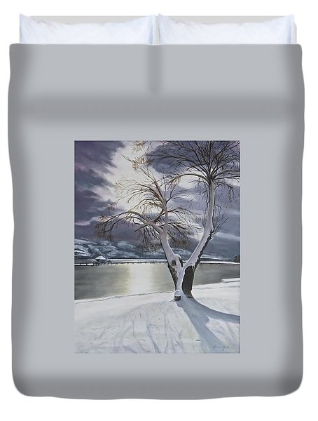 Winter's Whisper Duvet Cover