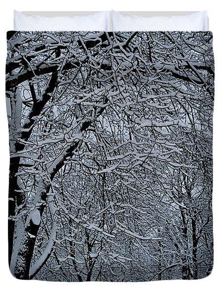 Winter's Work Duvet Cover by Joseph Yarbrough
