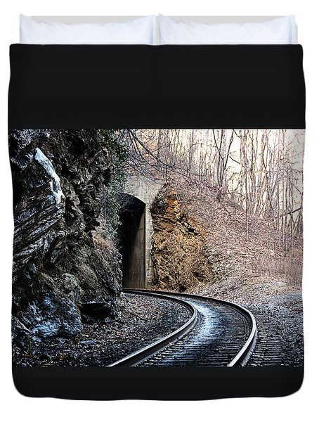 Wintery Tunnel Duvet Cover