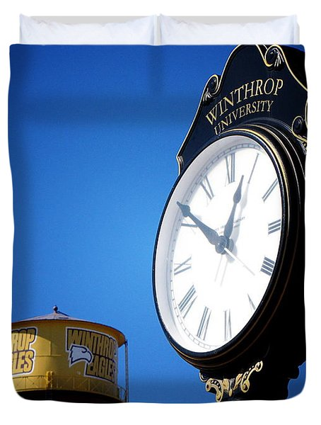 Duvet Cover featuring the photograph Winthrop Time by Greg Simmons
