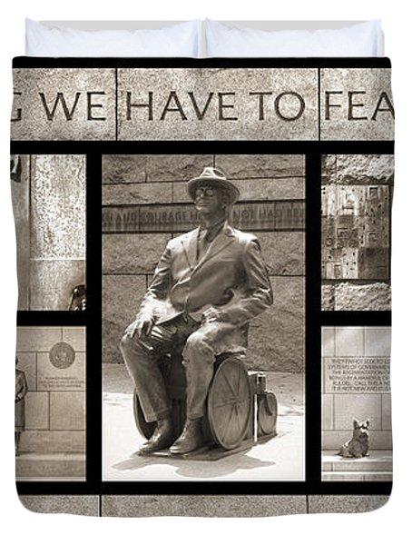 Wip - Fdr Memorial - Washington Dc Duvet Cover by Mike McGlothlen