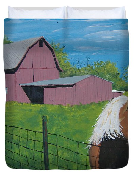 Wisconsin Barn Duvet Cover by Norm Starks