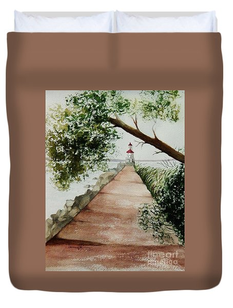 Wisconsin Point Lighthouse Duvet Cover