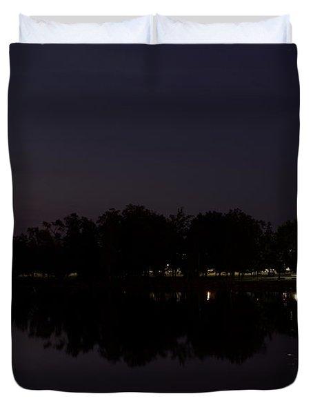 Wisconsin River After Dark Duvet Cover