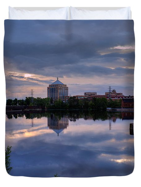 Wisconsin River Reflection Duvet Cover