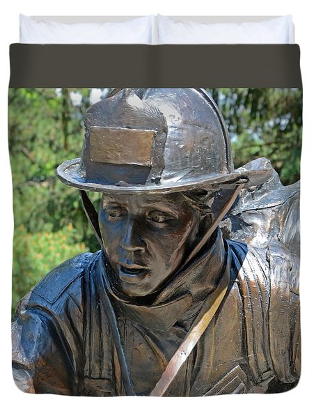 Duvet Cover featuring the photograph Wisconsin State Firefighters Memorial 3  by Susan  McMenamin