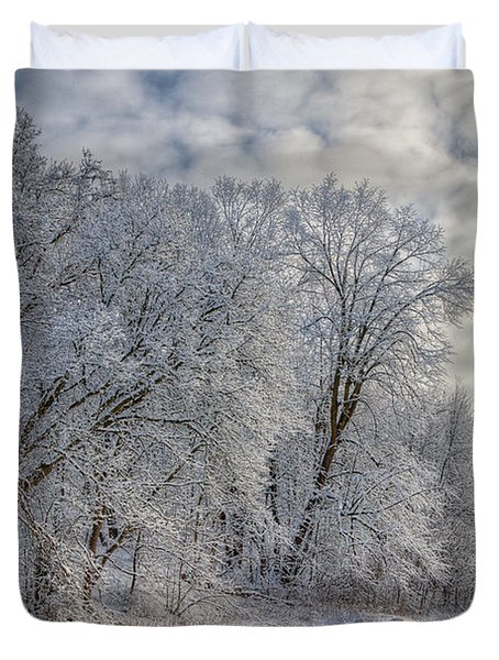 Wisconsin Winter Duvet Cover by Joan Carroll
