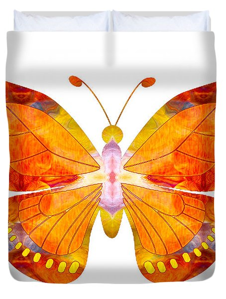 Wisdom And Flight Abstract Butterfly Art By Omaste Witkowski Duvet Cover