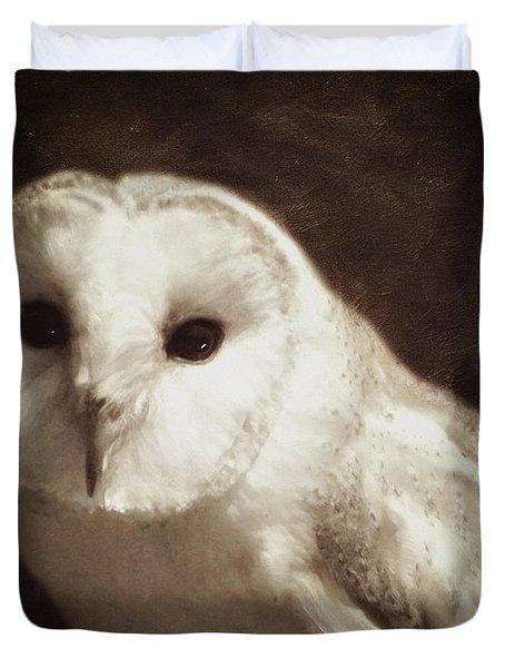 Wisdom Of An Owl Duvet Cover