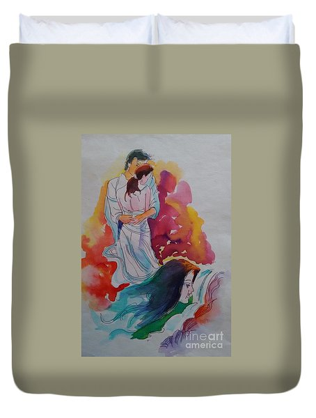 Wish I Could Duvet Cover by Chintaman Rudra