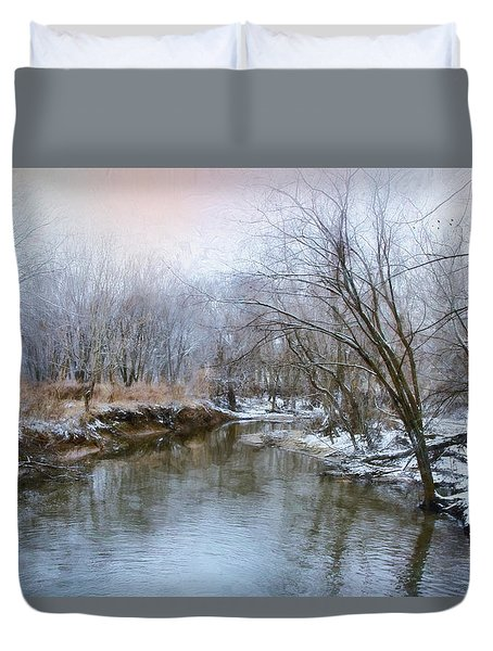 Duvet Cover featuring the photograph Wish I Had A River by John Rivera