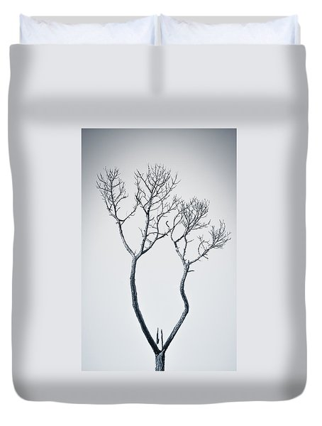 Duvet Cover featuring the photograph Wishbone Tree by Carolyn Marshall