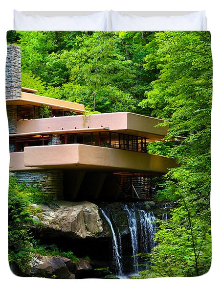 Wishes On Fallingwater Too Duvet Cover by Rachel Cohen
