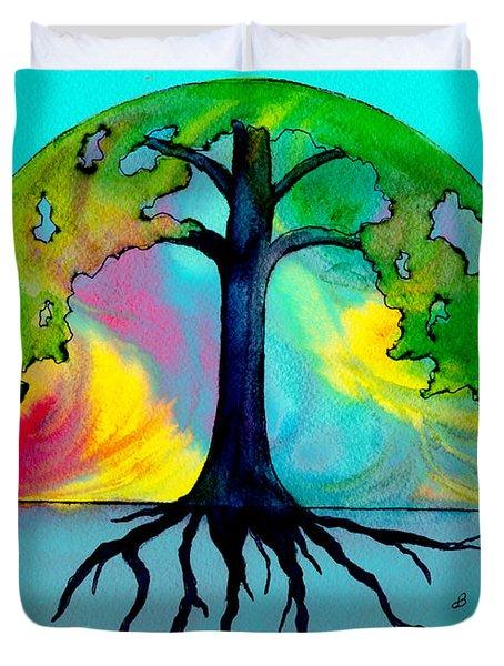 Wishing Tree Duvet Cover by Brenda Owen