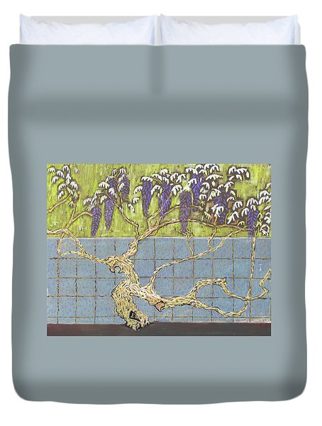 Wisteria Duvet Cover by Don Perino