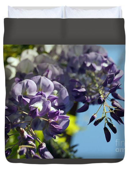 Duvet Cover featuring the photograph Wisteria IIi by Cassandra Buckley