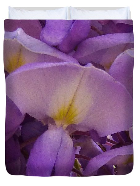 Wisteria Parasol Duvet Cover by Claudia Goodell