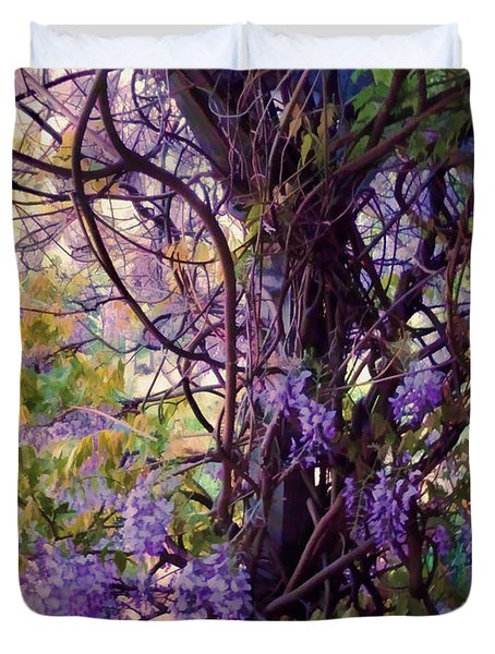 Wisteria Shade And Sun Duvet Cover