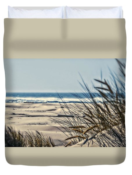 Duvet Cover featuring the photograph With Every Breath by Janie Johnson