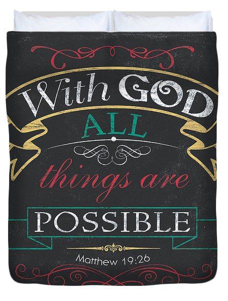 With God Duvet Cover