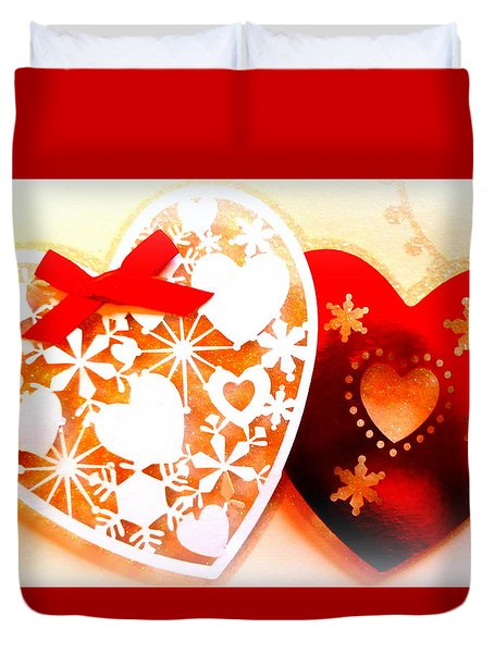 ...with Love Duvet Cover by The Creative Minds Art and Photography