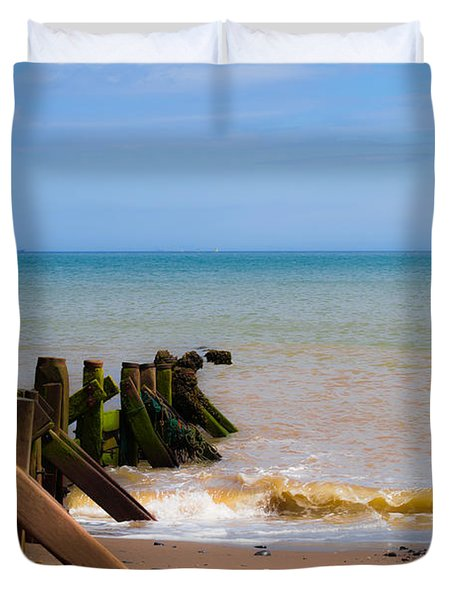 Withernsea Groynes Duvet Cover
