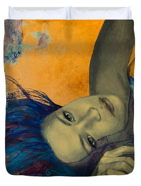 Within Temptation Duvet Cover by Dorina  Costras