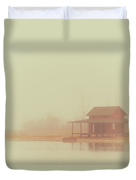 Within The Fog Duvet Cover by Karol Livote