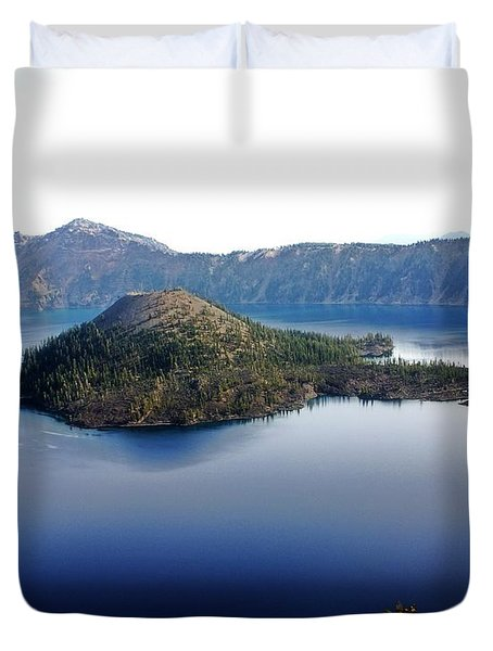 Wizard Island 1 Duvet Cover by Marty Koch