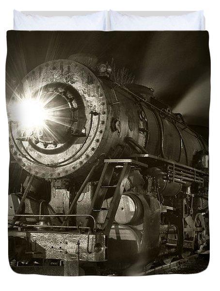 Wmsr Engine 734 At The Frostburg Depot Duvet Cover