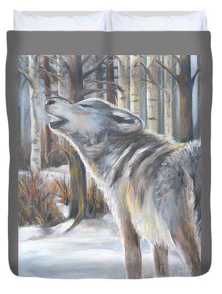 Wolf Duvet Cover by Cher Devereaux