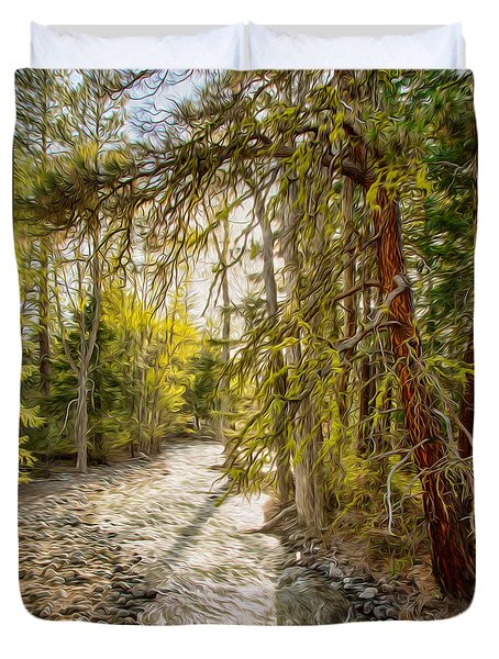Wolf Creek Afternoon Light Duvet Cover by Omaste Witkowski