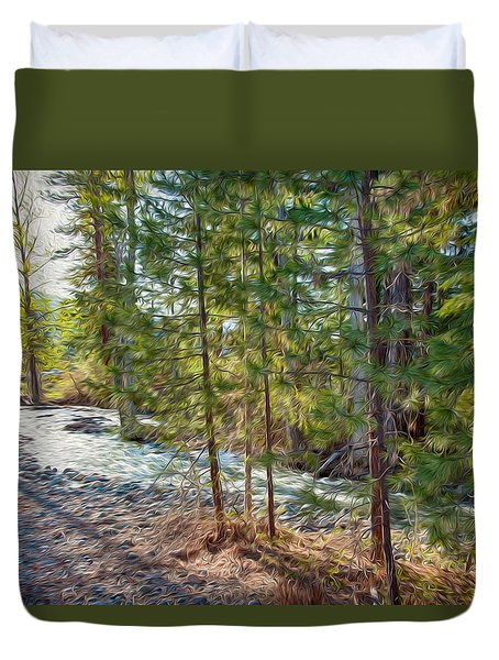 Wolf Creek Stretching Out Duvet Cover by Omaste Witkowski