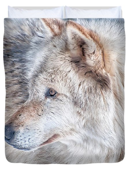 Duvet Cover featuring the photograph Wolf In Disguise by Bianca Nadeau