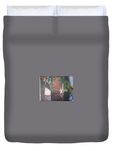Wolf Lake On Vancouver Island  Duvet Cover