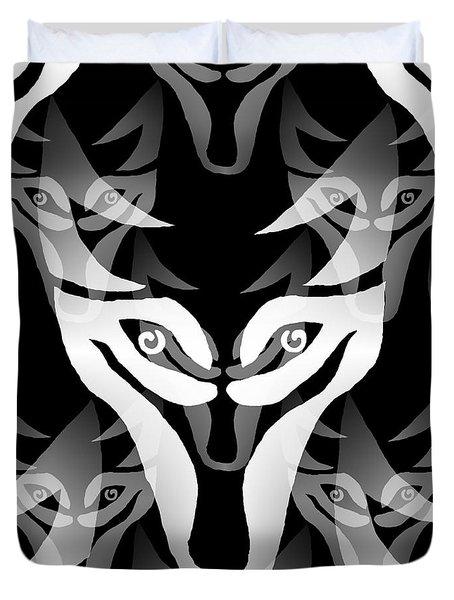 Wolf Mask Duvet Cover