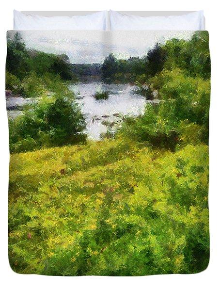 Wolf River Duvet Cover