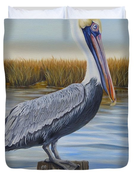 Wolf River Pelican Duvet Cover