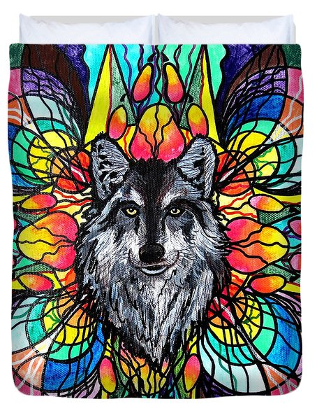 Wolf Duvet Cover by Teal Eye  Print Store