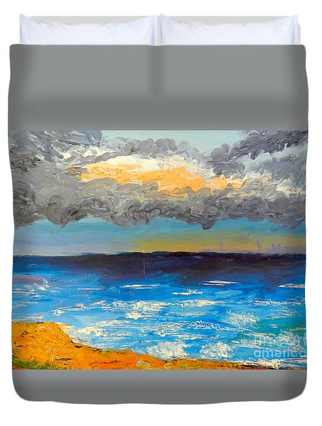 Wollongong Beach Duvet Cover by Pamela  Meredith