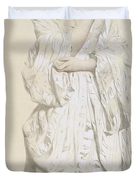 Woman In A Dressing Gown Duvet Cover by French School