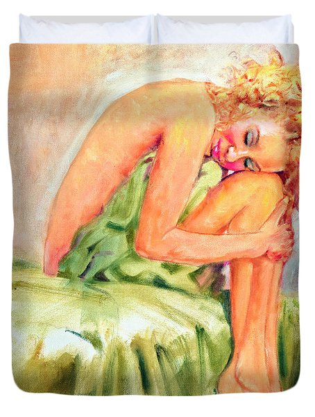 Woman In Blissful Ecstasy Duvet Cover