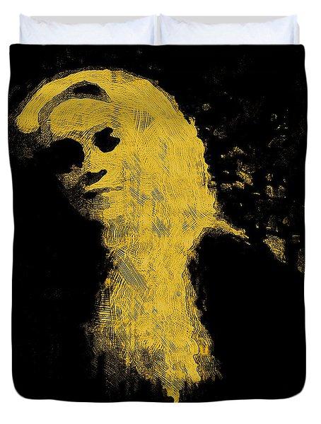 Woman In The Dark Duvet Cover by Pepita Selles