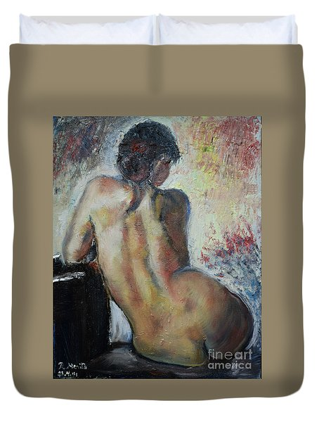 Woman's Back  Duvet Cover