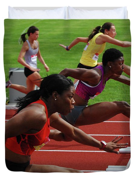 Womens Hurdles 3 Duvet Cover