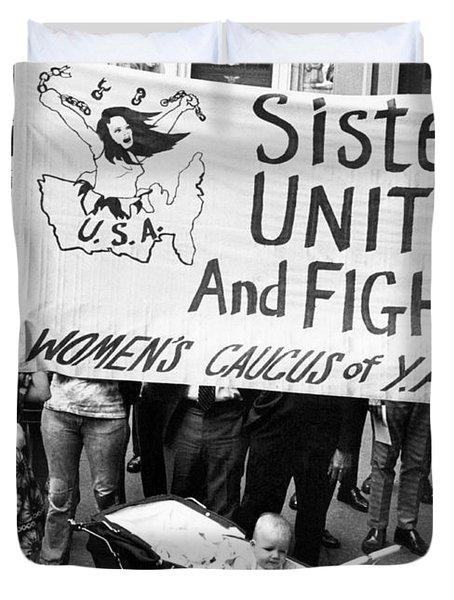Women's Liberation Gathering Duvet Cover