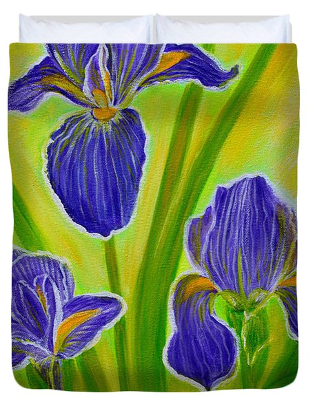 Wonderful Iris Flowers 3 Duvet Cover