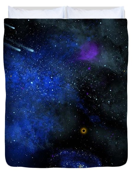 Wonders Of The Universe Mural Duvet Cover